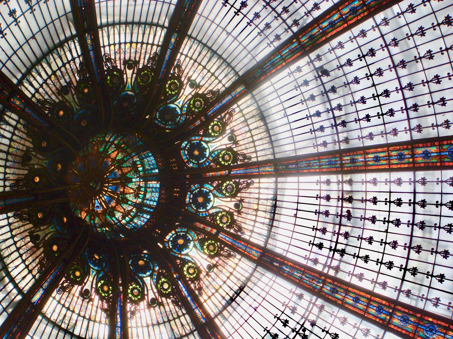 Art Nouveau Dome inside Galeries Lafayette part of your floor-by-floor guide to the Paris mall