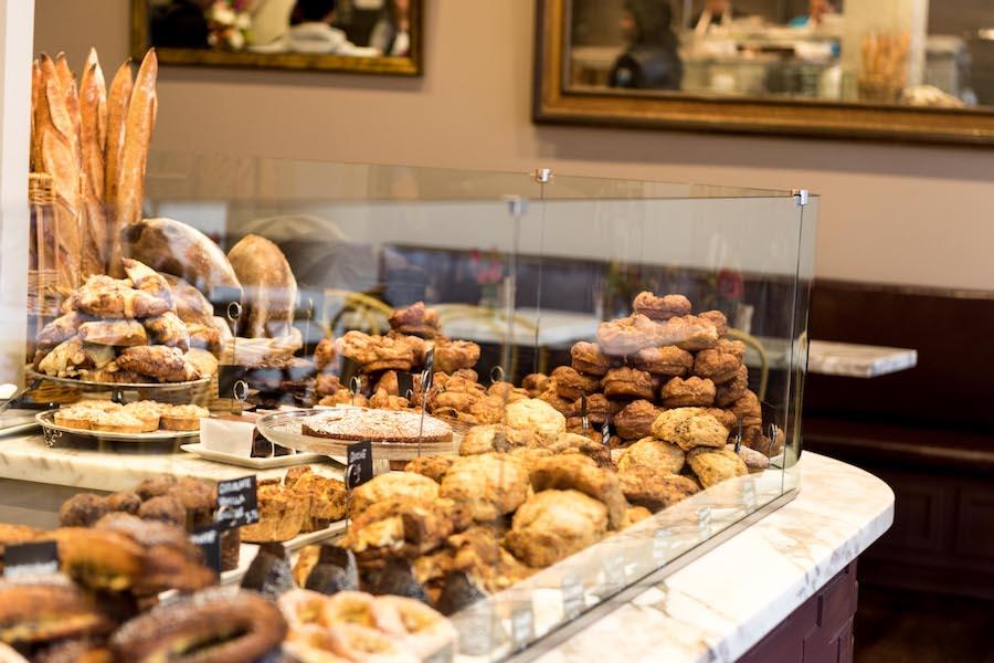 B Patisserie bakery case