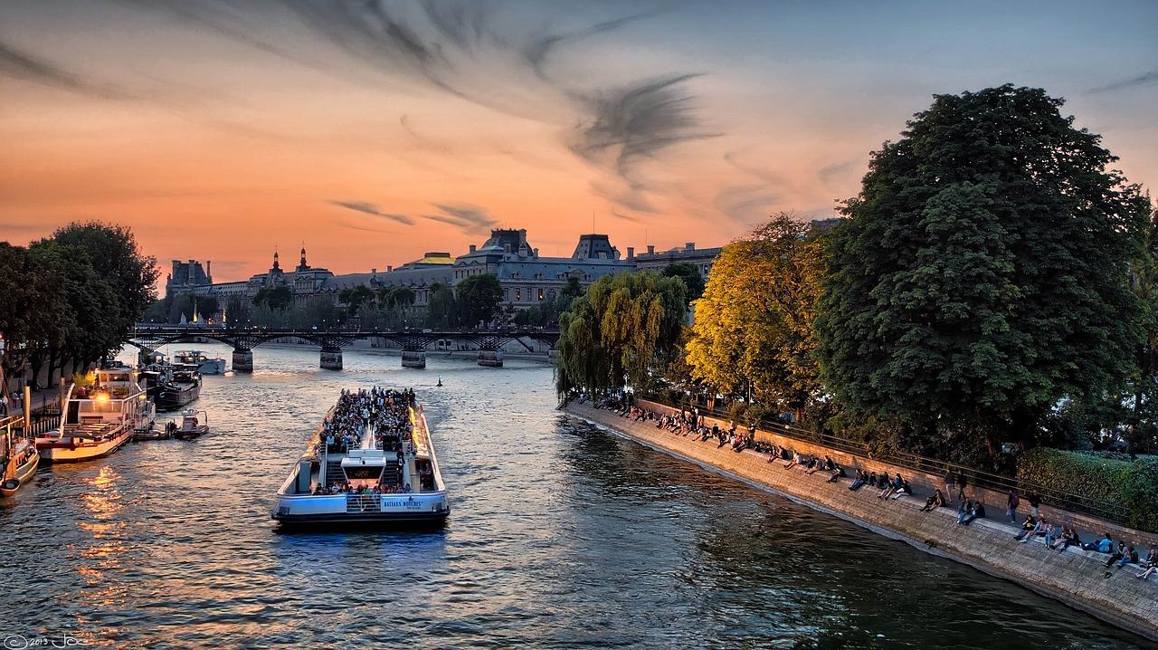 Boat on the Seine River