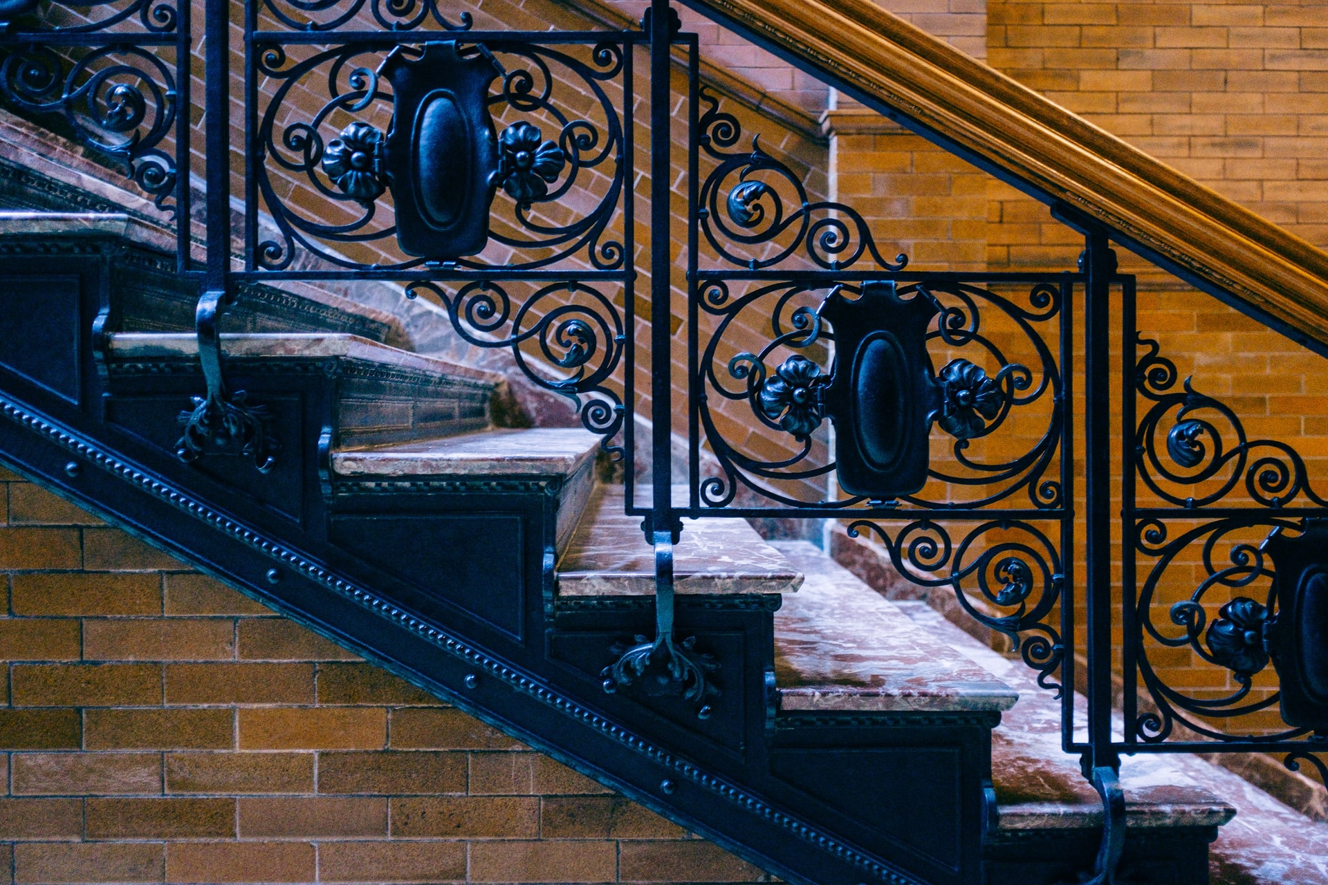 Bradbury Building detailing on staircase