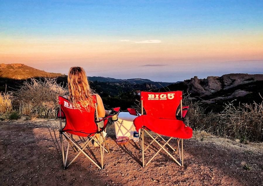 LA Sunset at Topanga Canyon Trail Head
