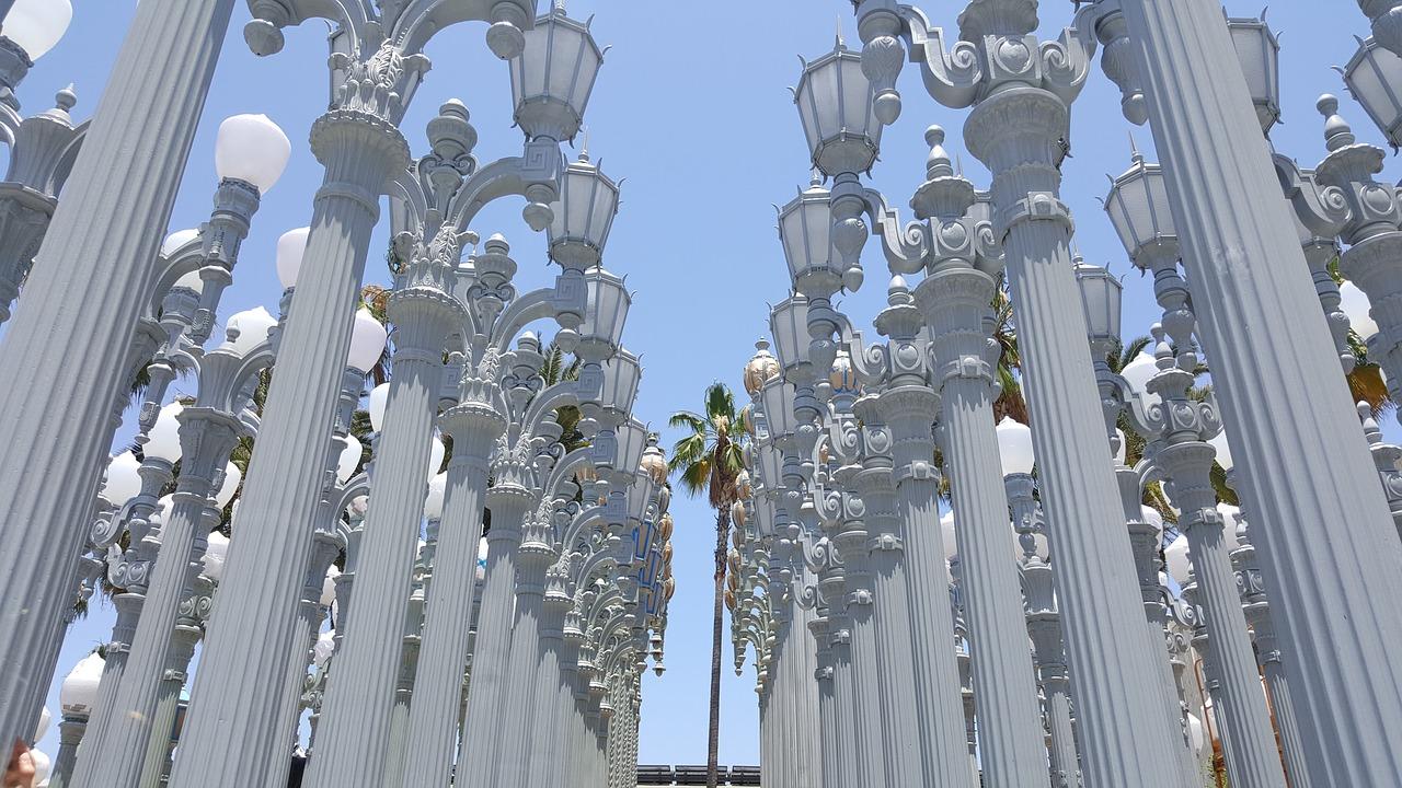 Lights installation at LA museum of art