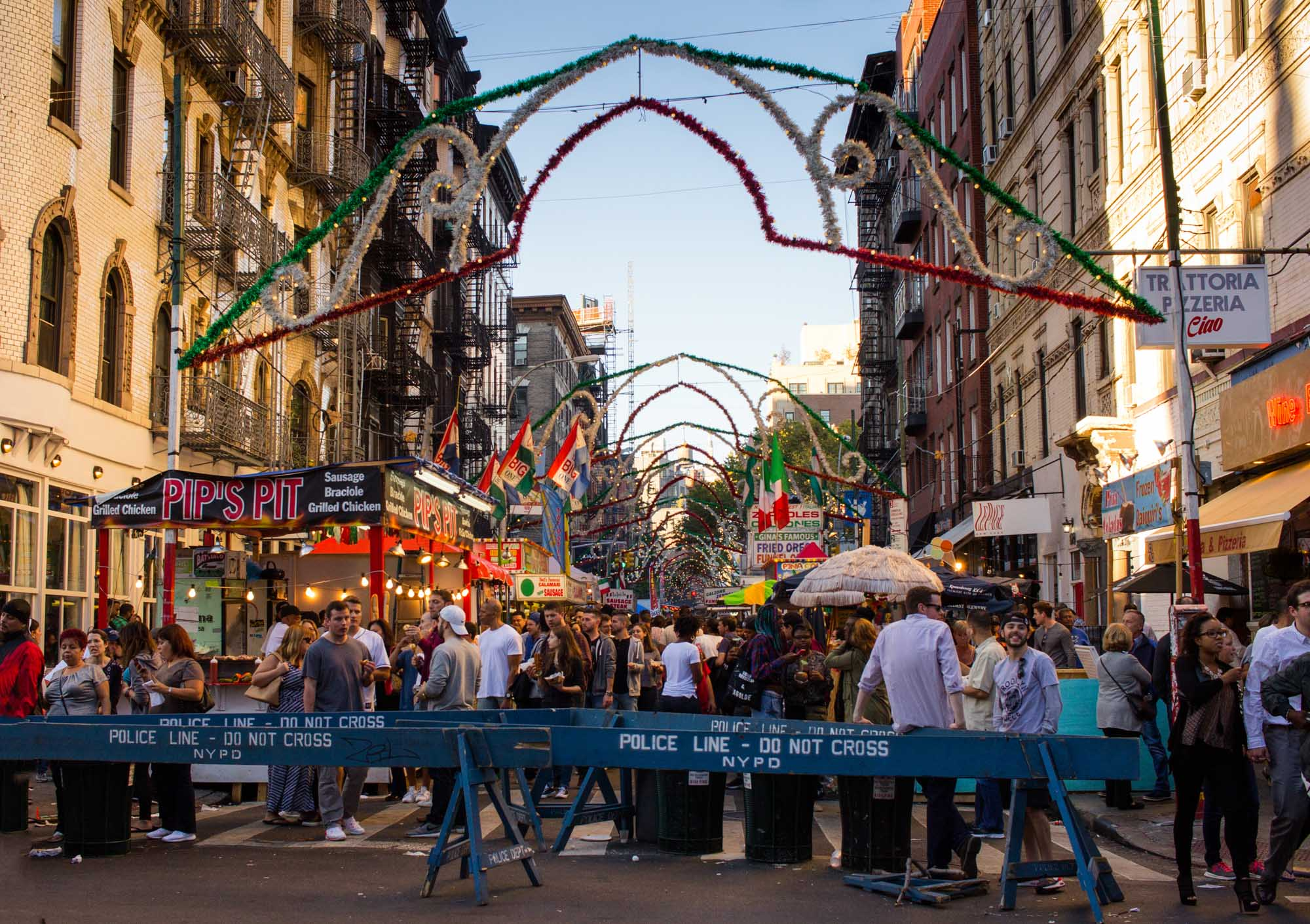 The San Gennaro festival in Little Italy