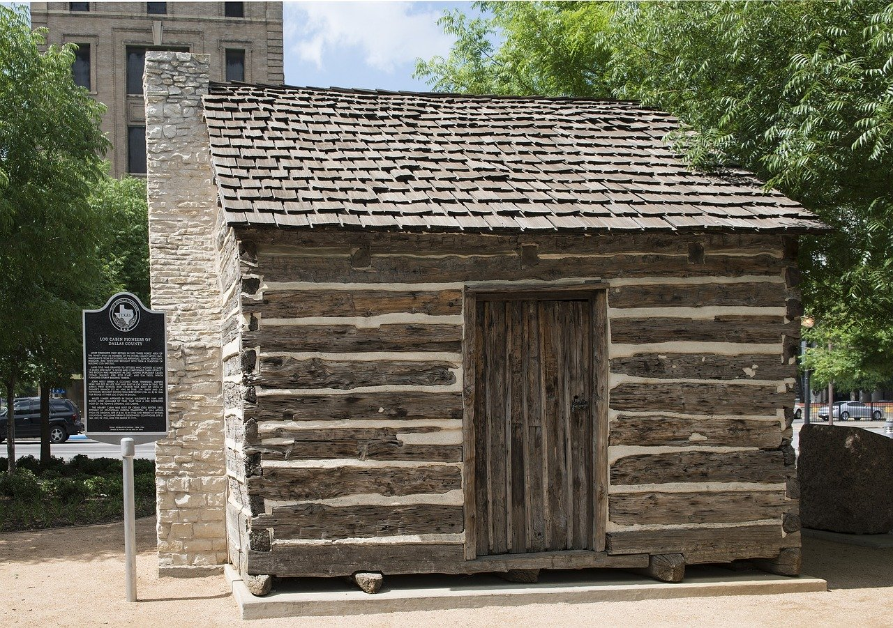 Log Cabin Replica in Dealey Plaza in Dallas