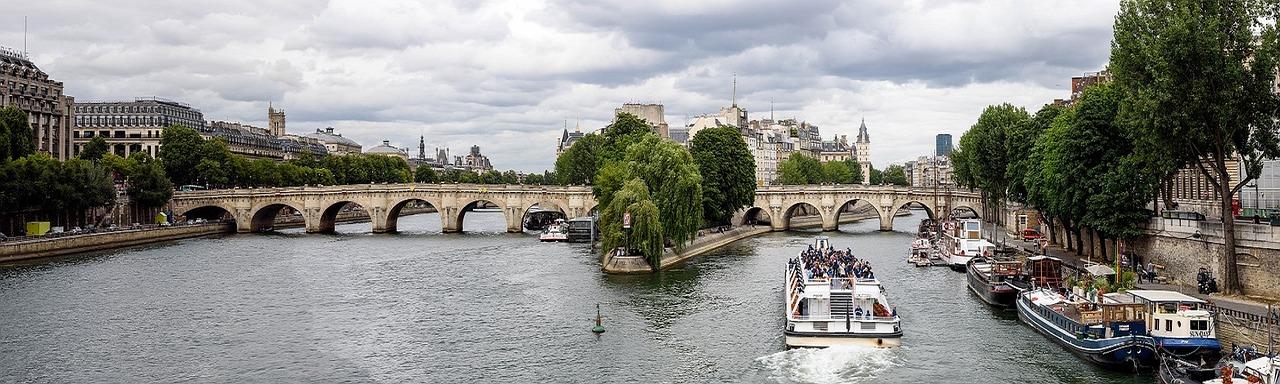 Panorama of the Seine in Paris