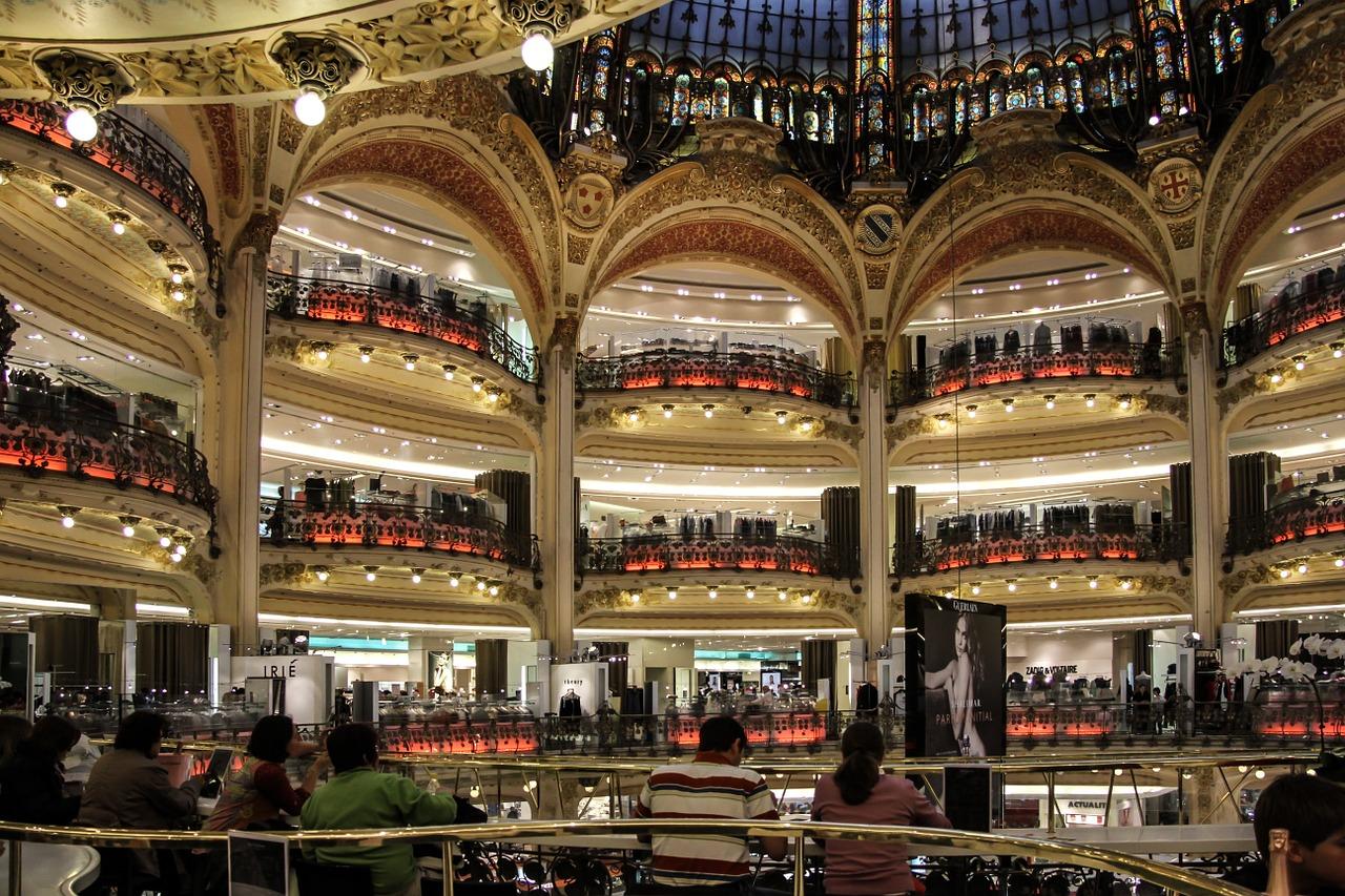 floor-by-floor view of the galeries lafayette in paris