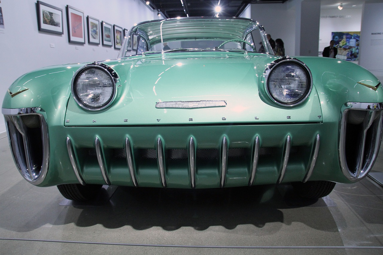 radiator of a vintage car at the Petersen Automotive Museum