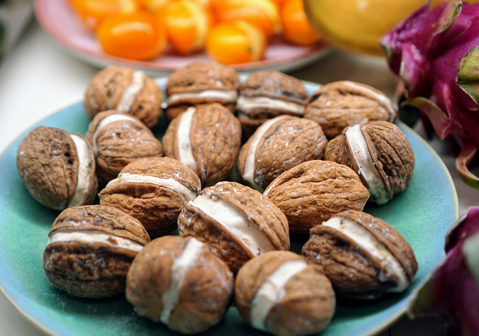 A display of Parisian chocolates by Fruttini