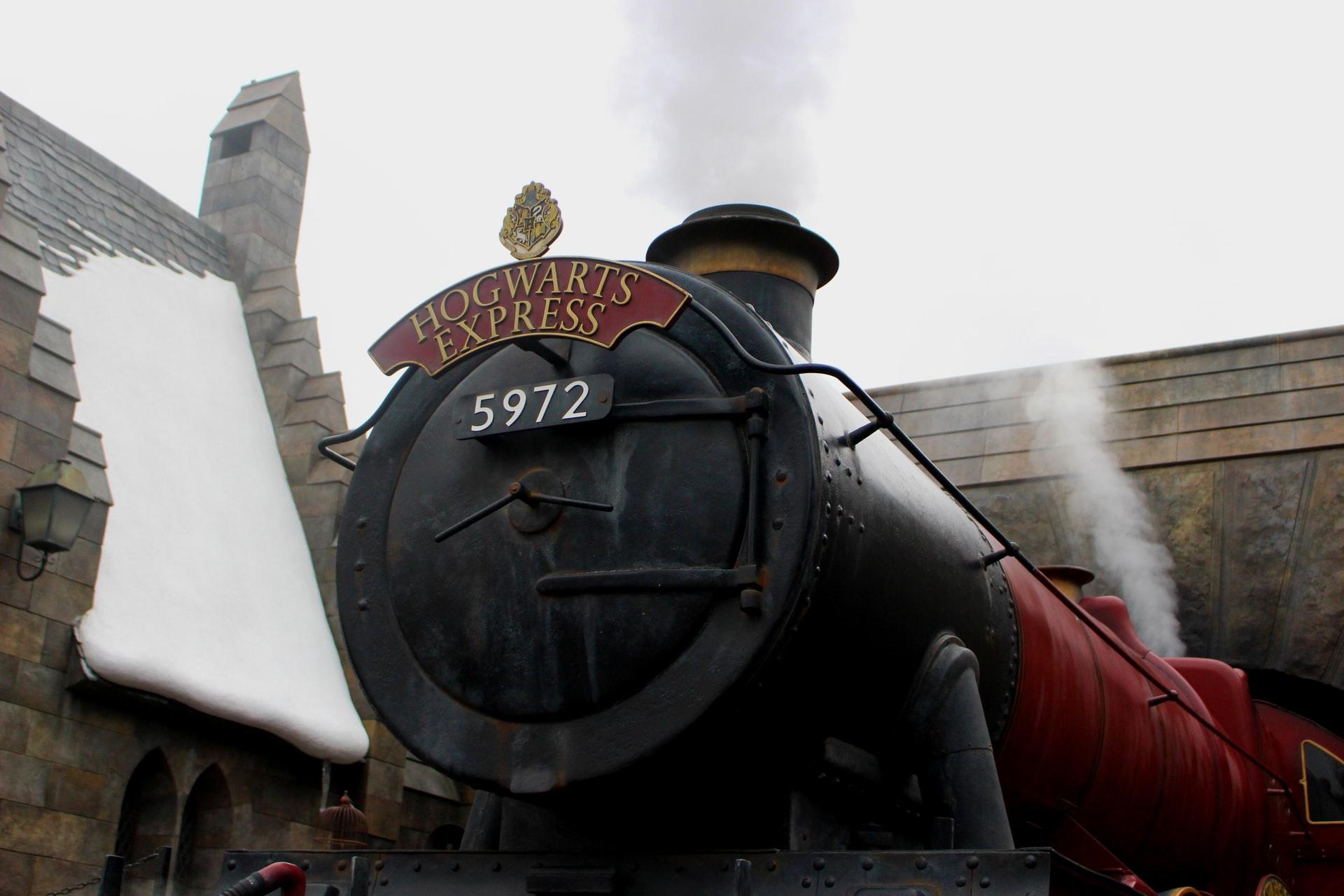 Hogwarts train at theme park
