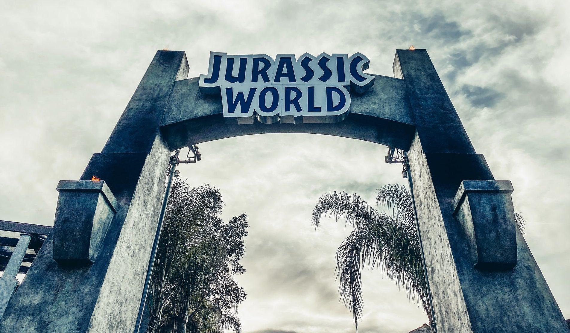 Jurassic World ride sign at Universal Studios Hollywood