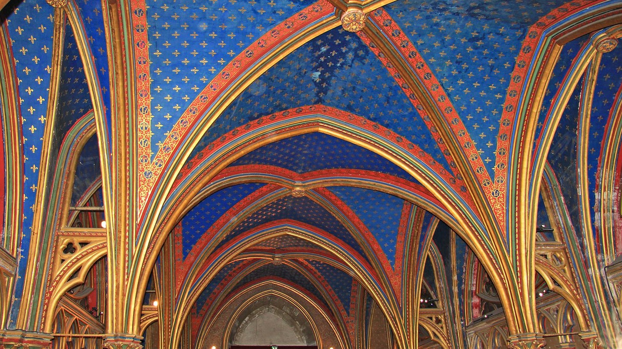 Vaulted ceiling in Sainte-Chapelle