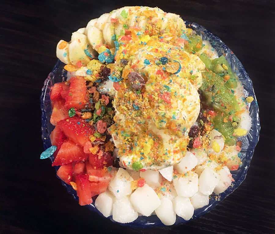mr coffee bowl of trendy Asian sweets in Los Angeles