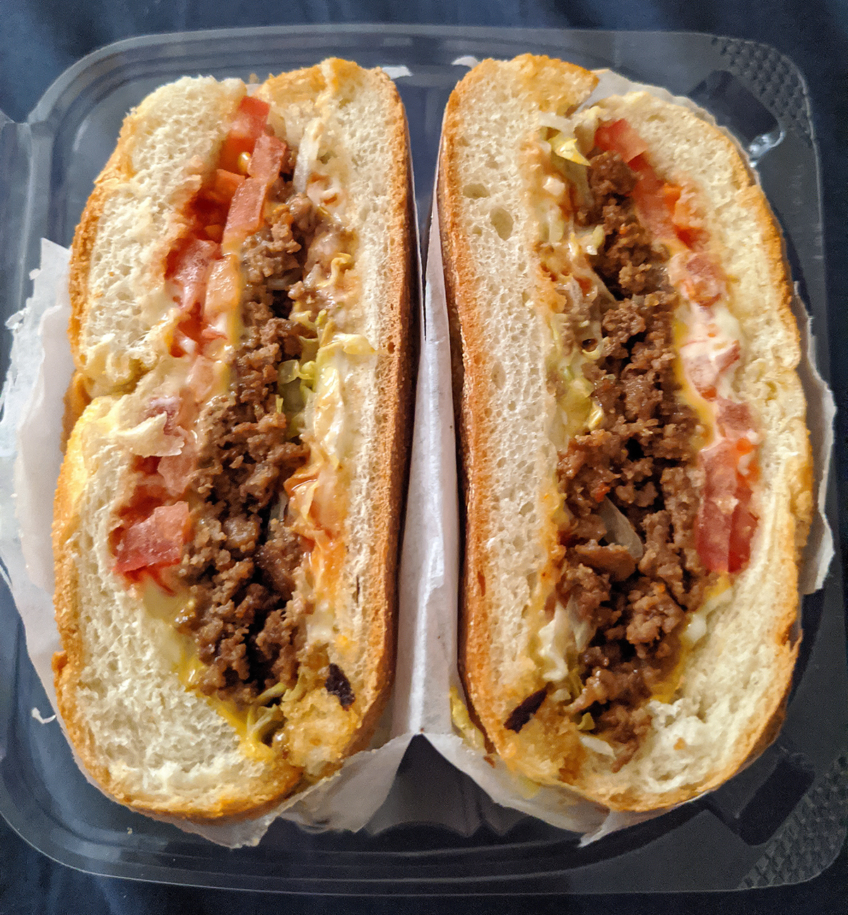 Chopped cheese sandwich from a NYC bodega