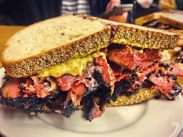 Pastrami sandwich at Katz's Delicatessen