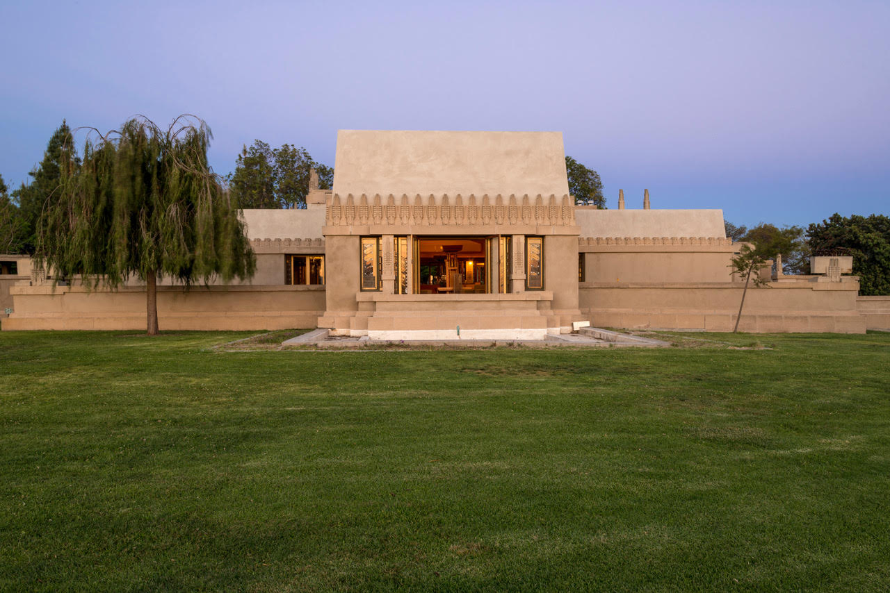LA Hollyhock House Exterior View Photo courtesy of Barnsdall Art Park Foundation