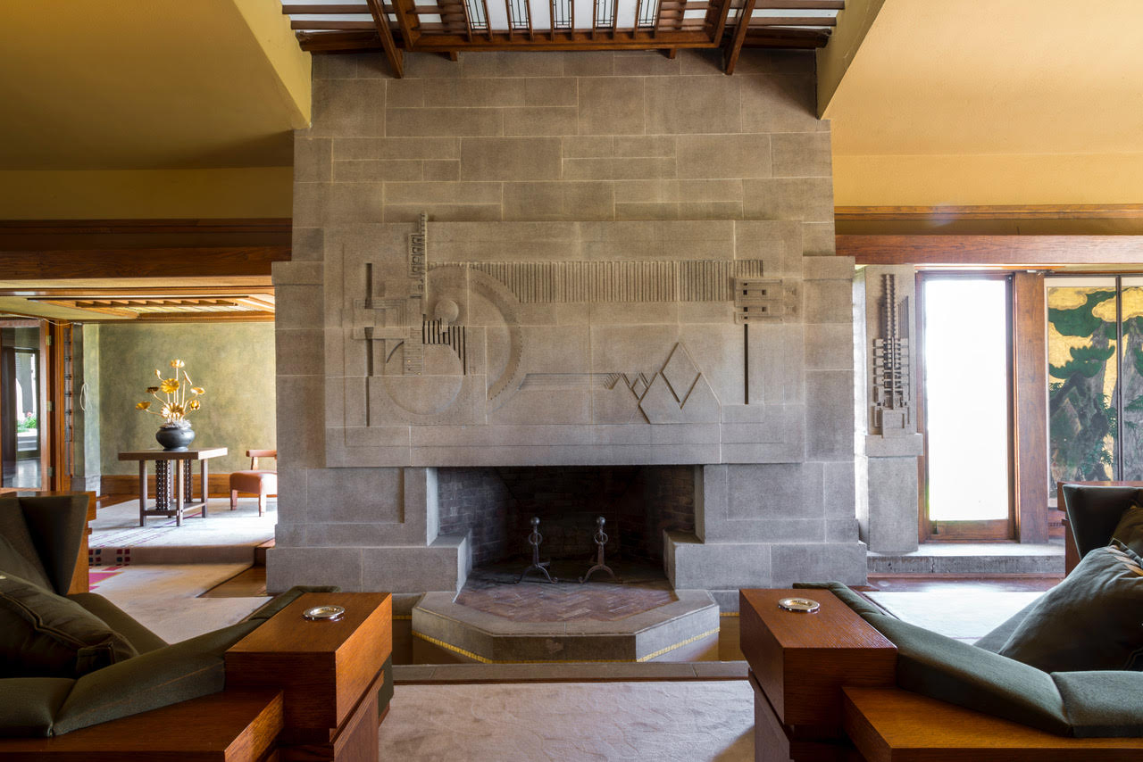 LA Hollyhock House Interior View Photo courtesy of Barnsdall Art Park Foundation