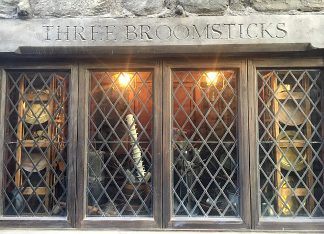 Three Broomsticks in LA at Wizarding World of Harry Potter, one witchy place to visit in Los Angeles