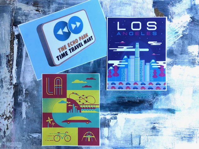Los Angeles Time Travel Mart time travel postcards