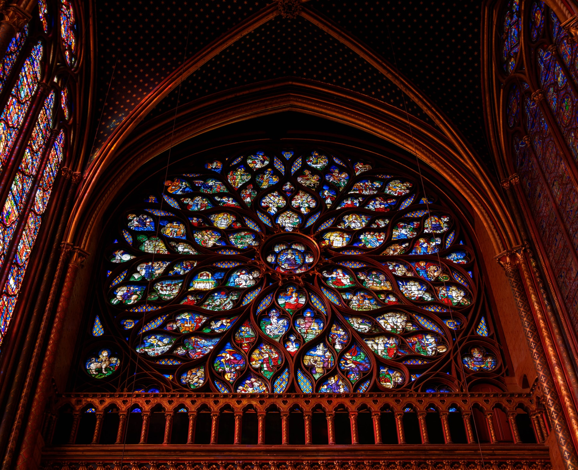 Rose window at Sainte-Chapelle