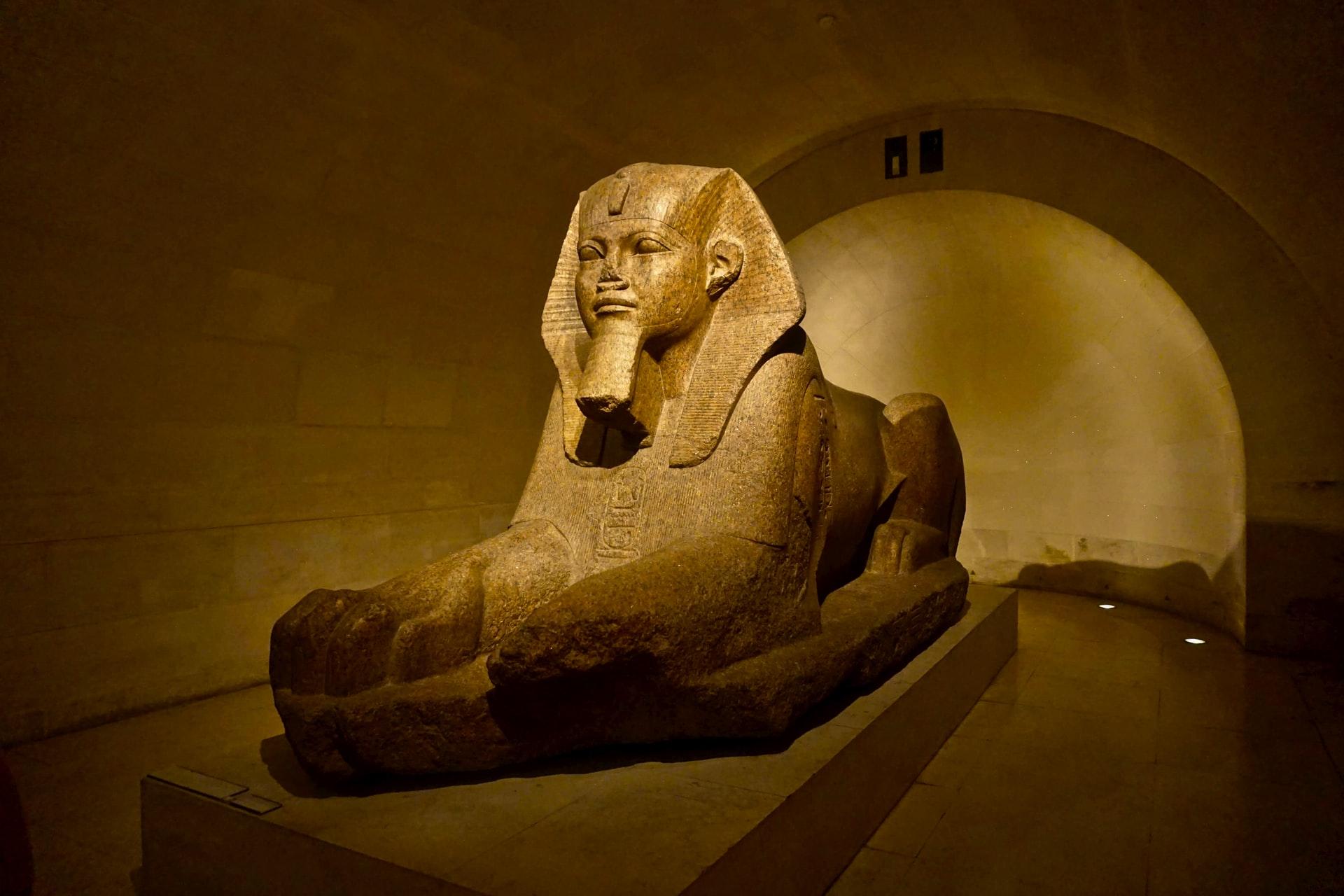 Sphinx of Tanis in Louvre