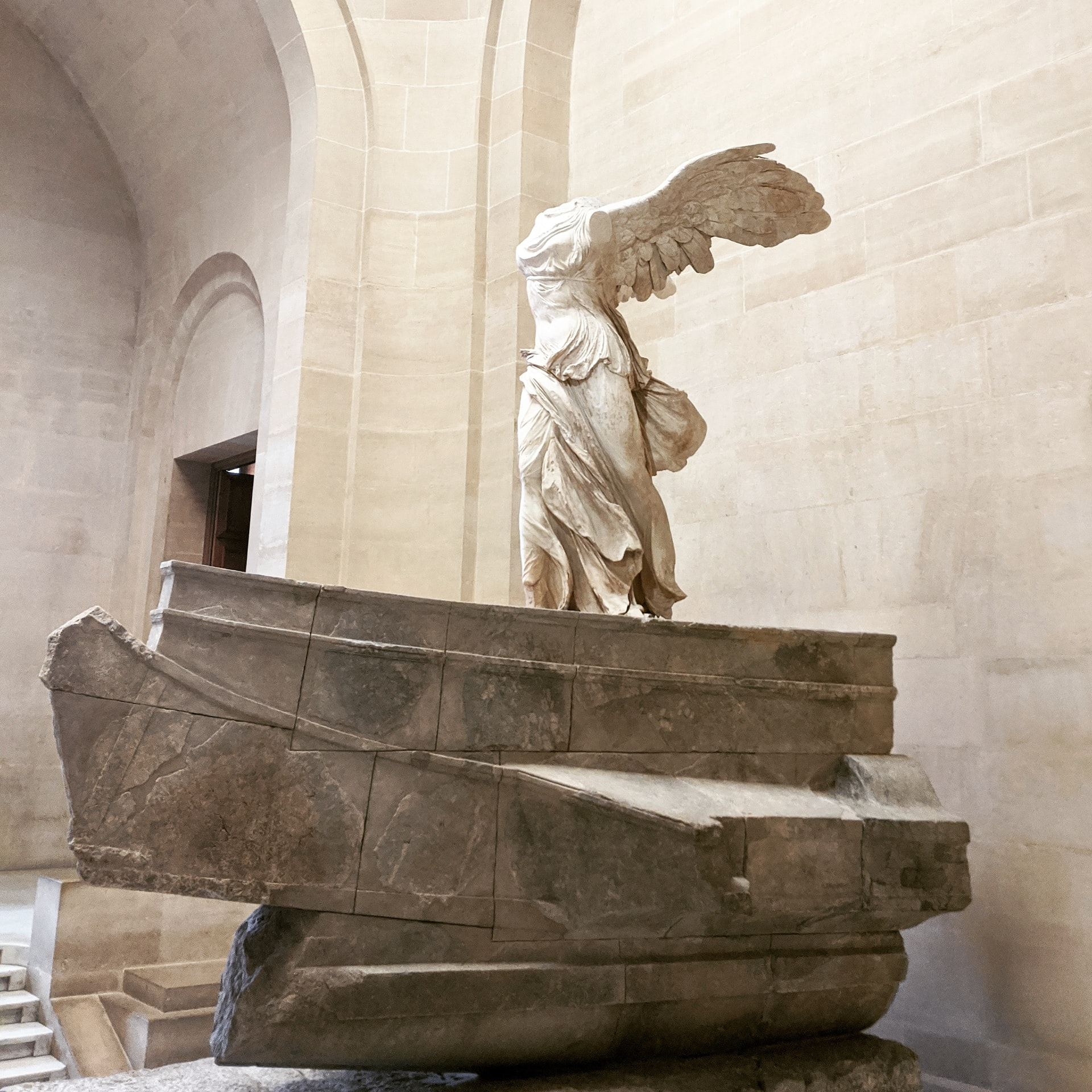 Winged statue at the Louvre