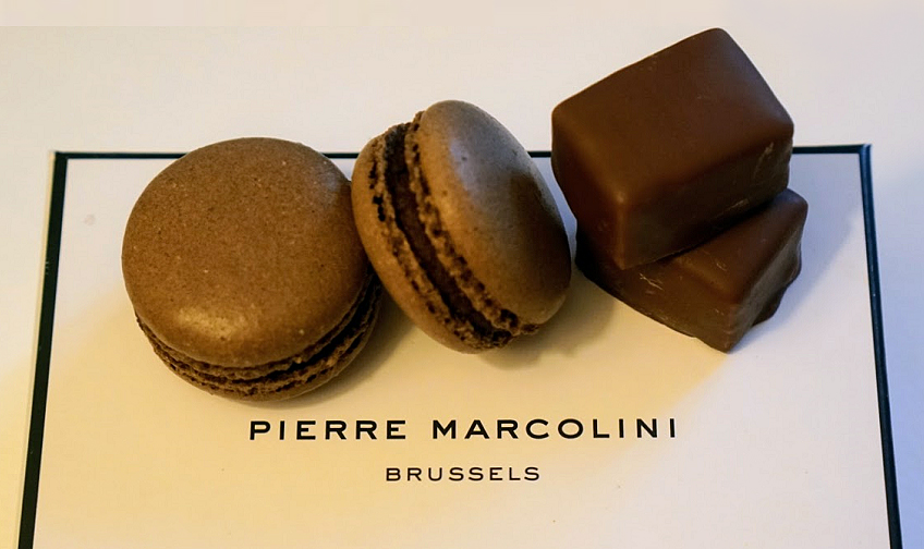 four small Pierre Marcolini French chocolates