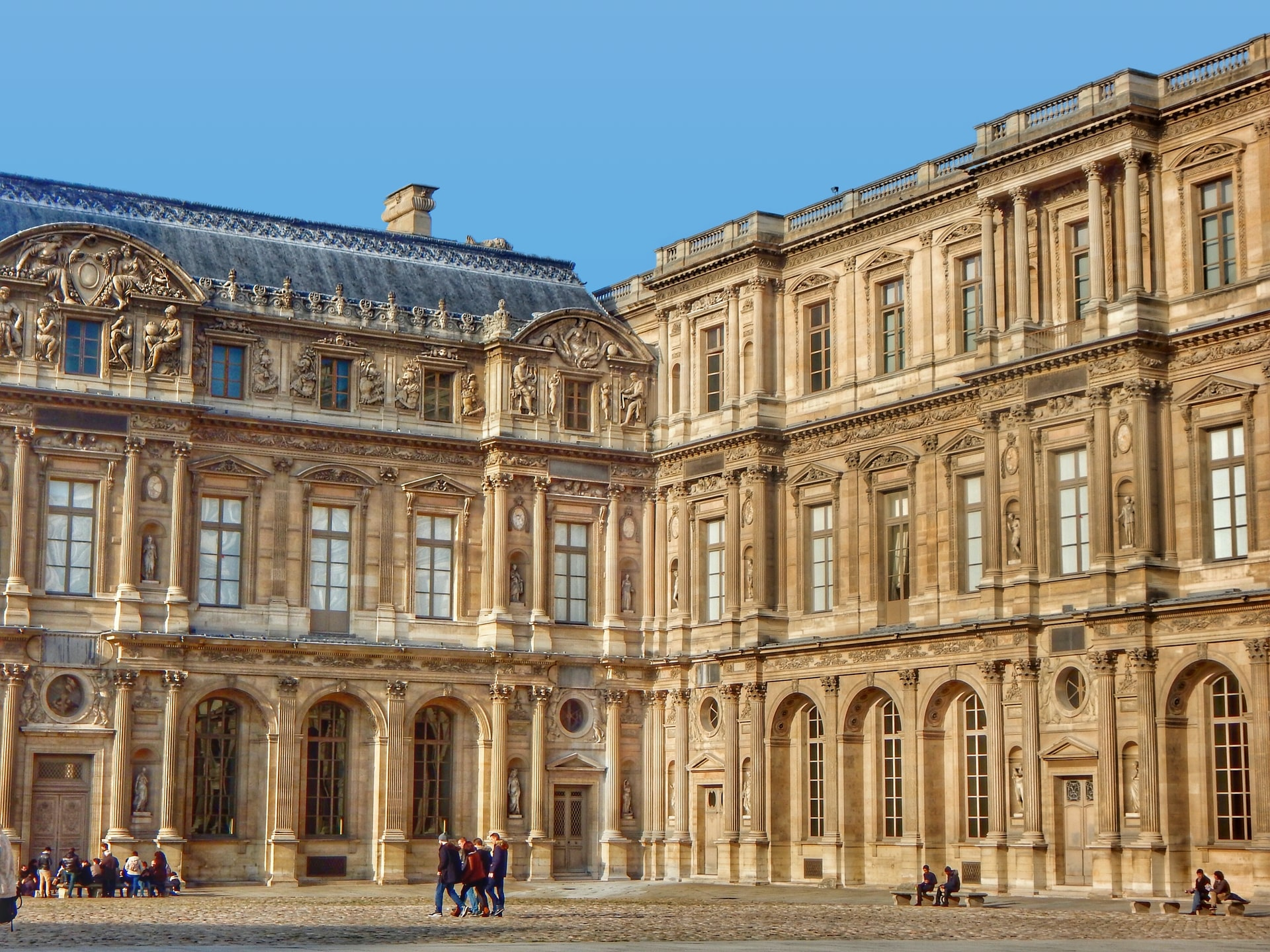 historic fort that houses the Louvre