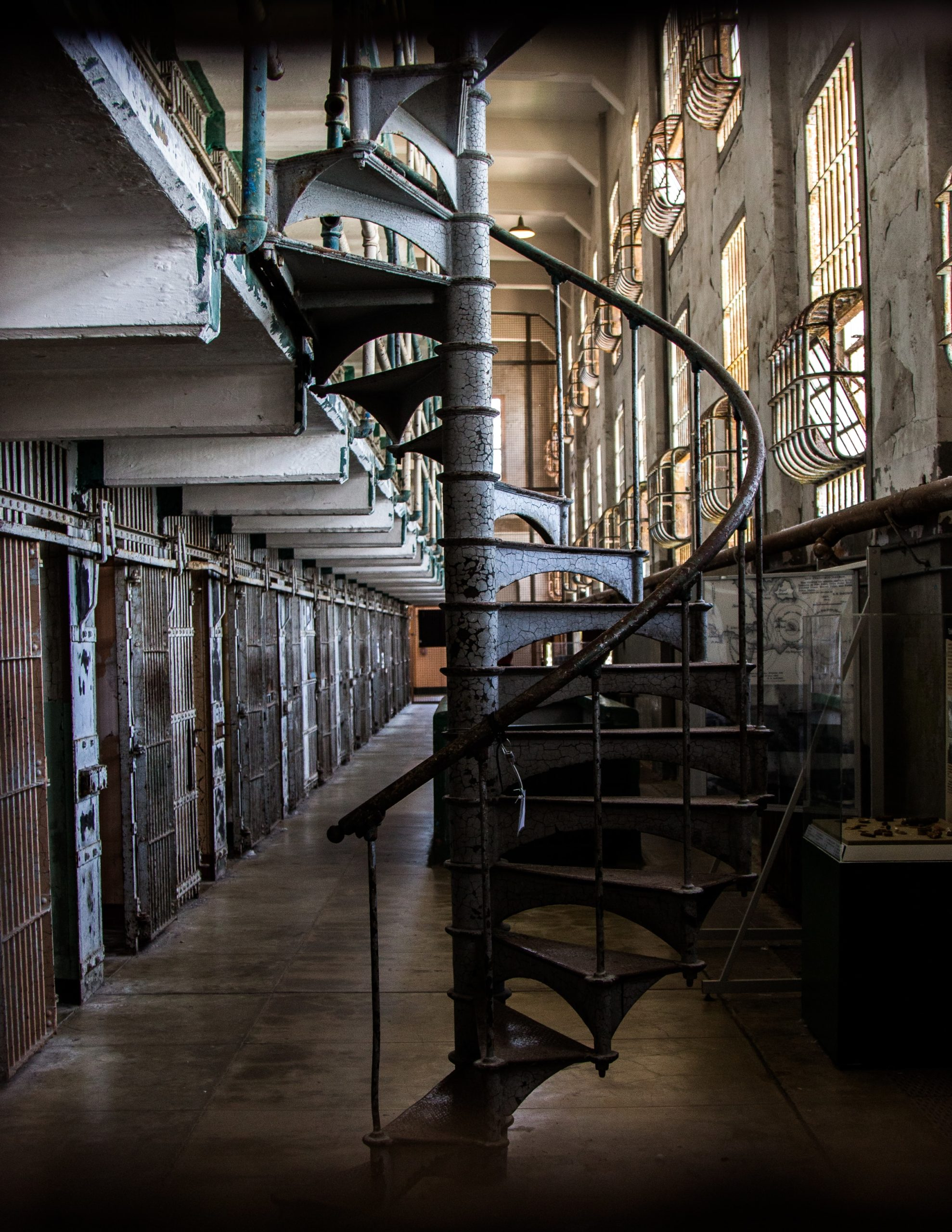 Alcatraz prison stairs