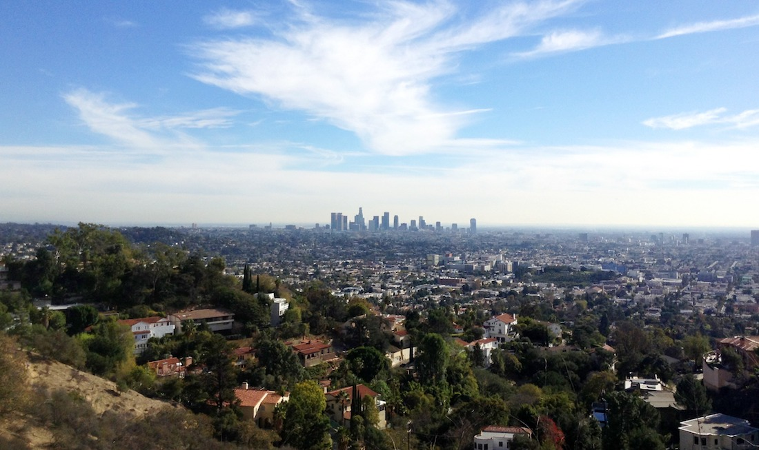 View of LA from a hiking trail at Runyon Canyon