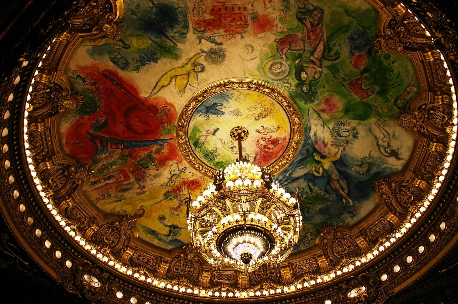 Chandelier at the Opera Garnier in Paris