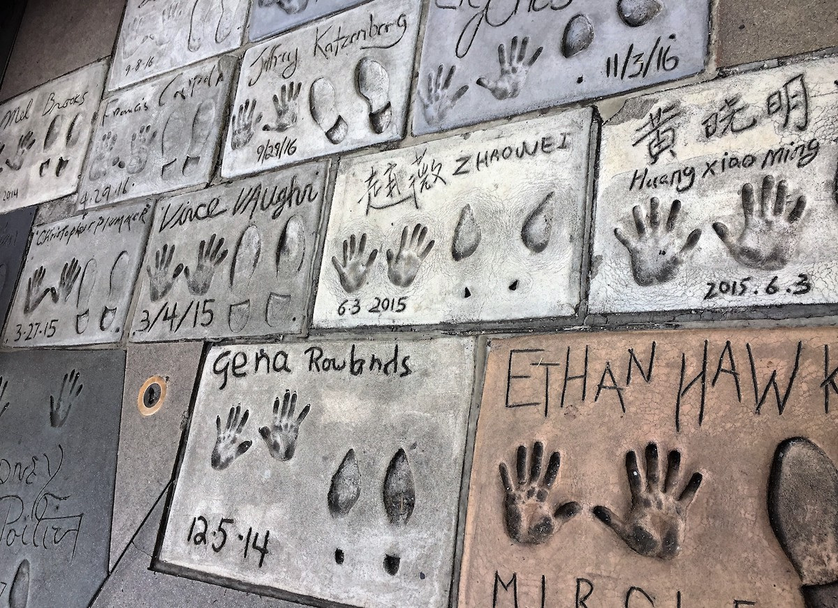 Hollywood Star Handprints and Footprints outside Grauman's Chinese Theatre in the Forecourt of the Stars