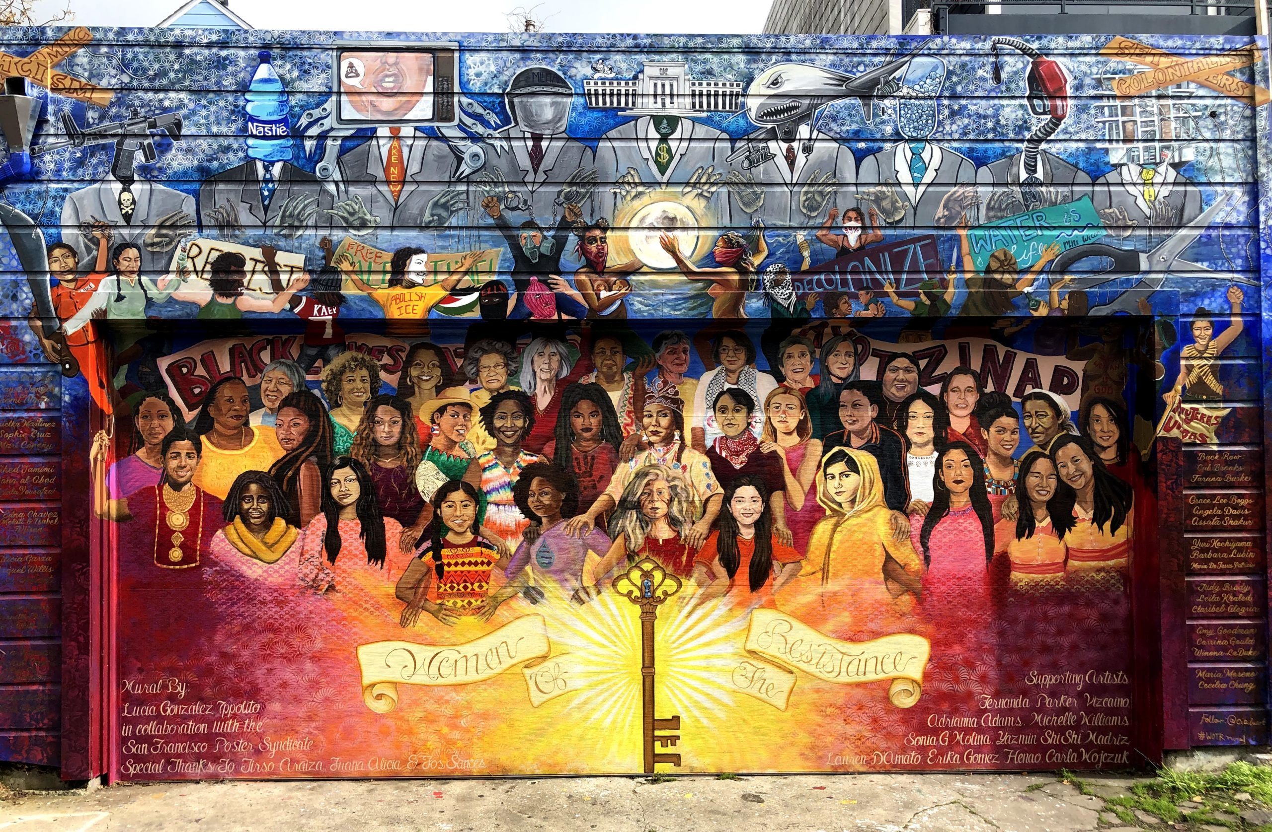 Latino cultural mural in the Mission District