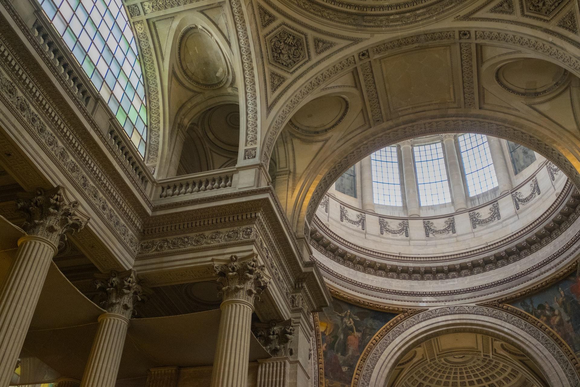 Interior of the Paris Pantheon