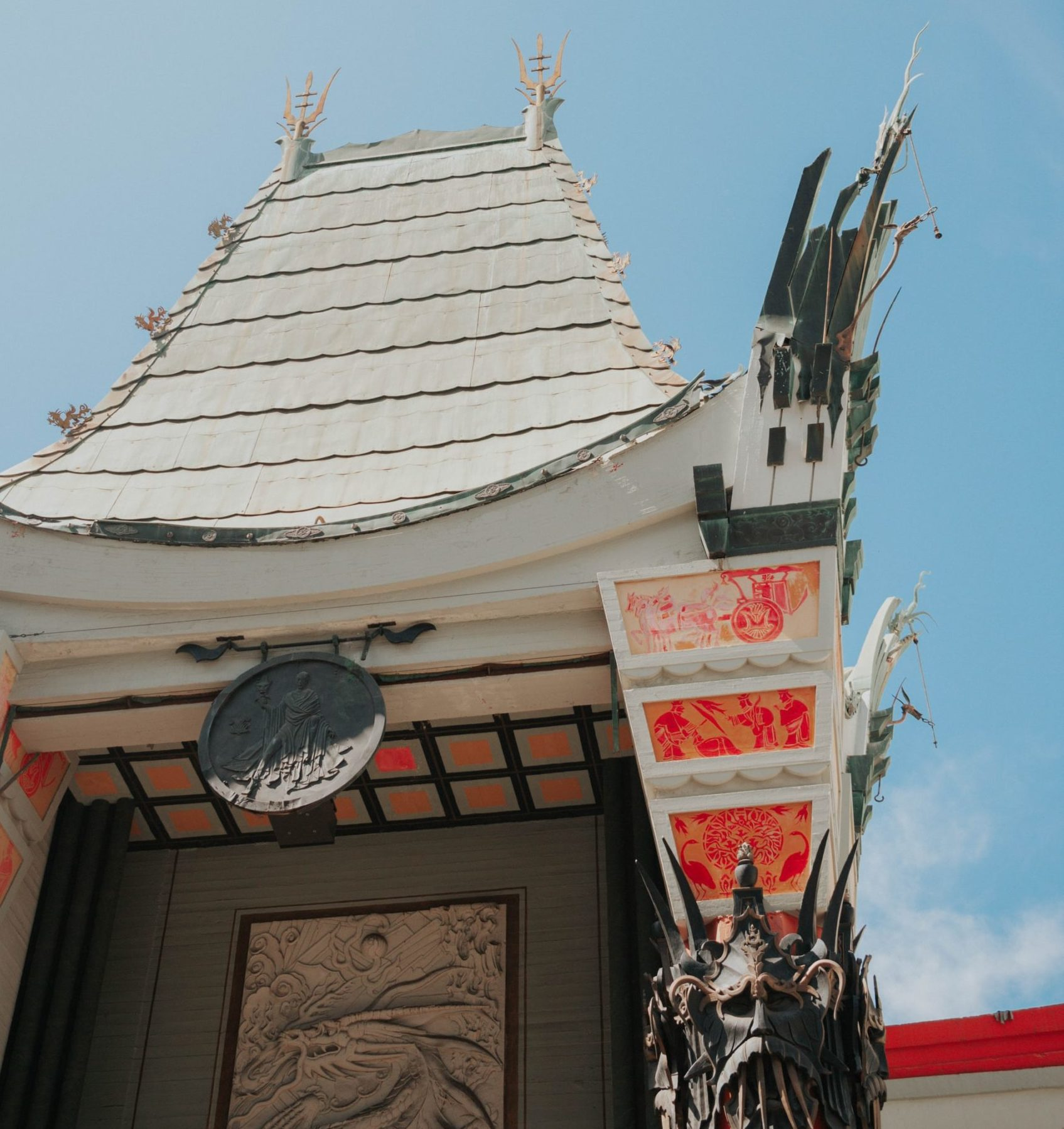 Roof of TCL Chinese Theatre in Los Angeles