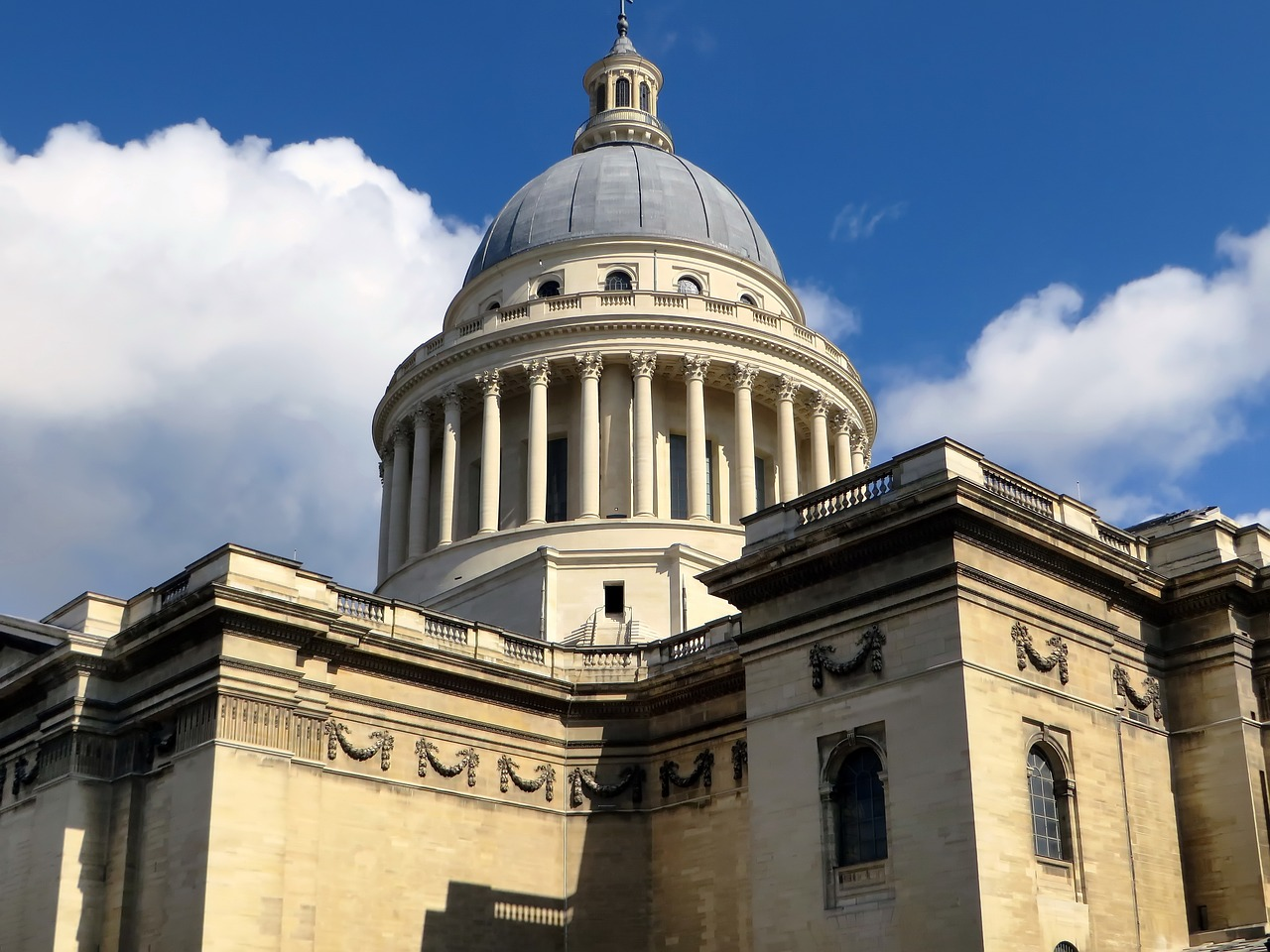The Paris Pantheon viewed from outside