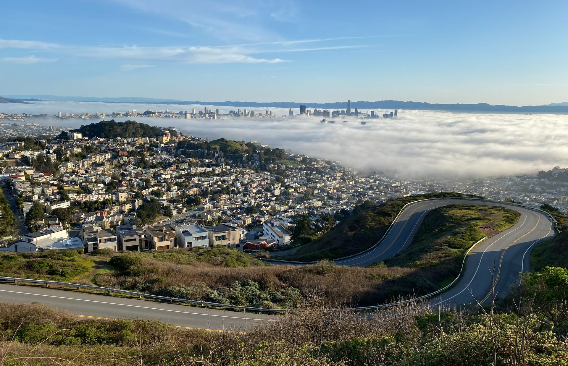 Twin Peaks View with Fog