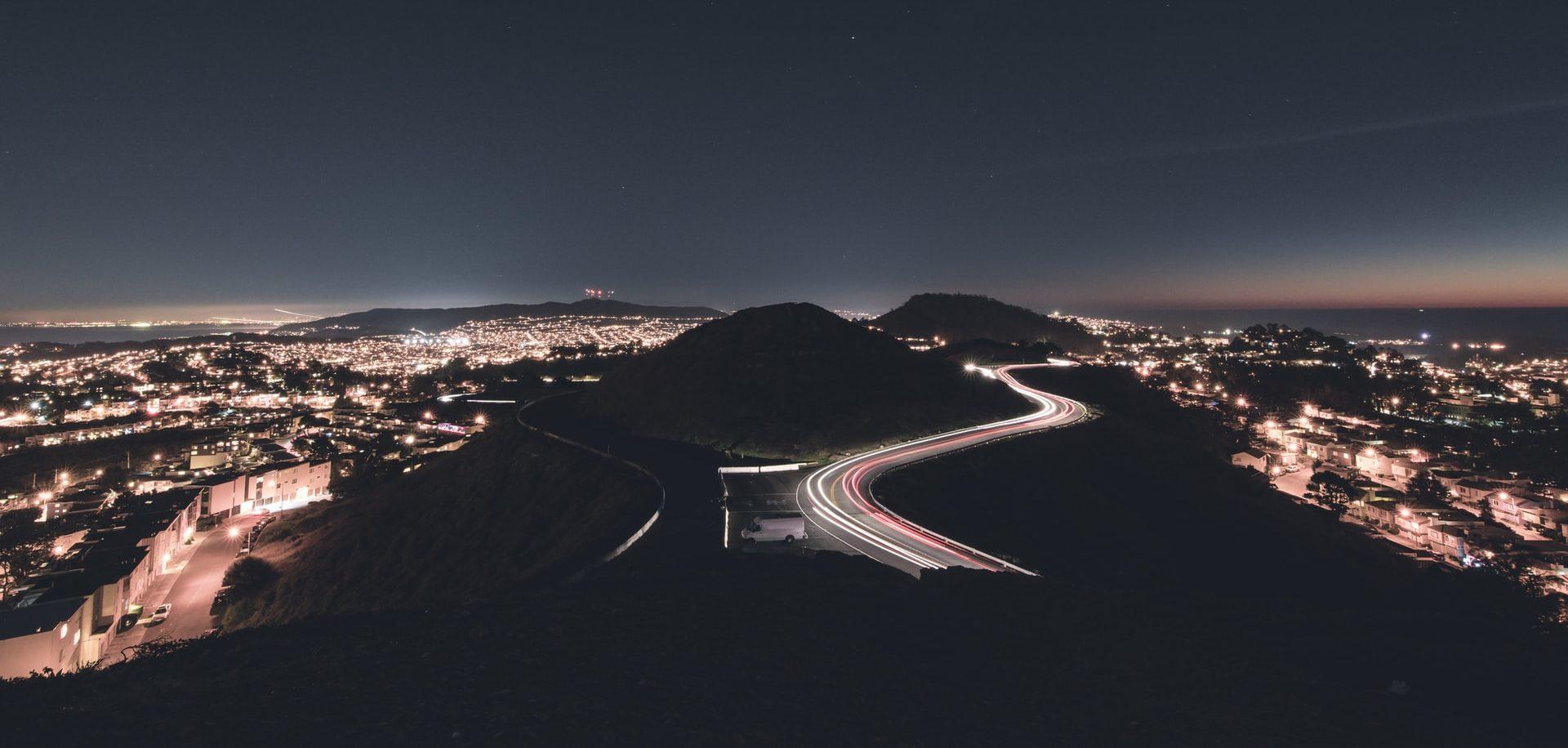 Twin Peaks at Night