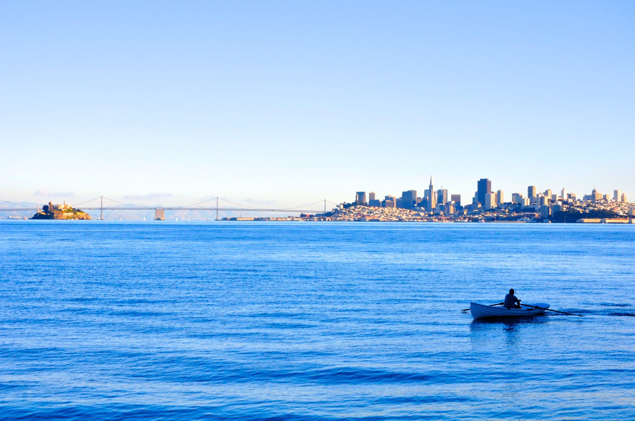 San Francisco Bay with skyline and Bay Bridge view