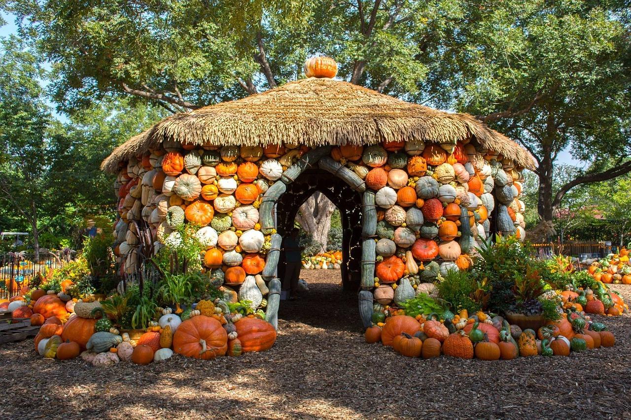 pumpkin house during Dallas arboretum fall festival