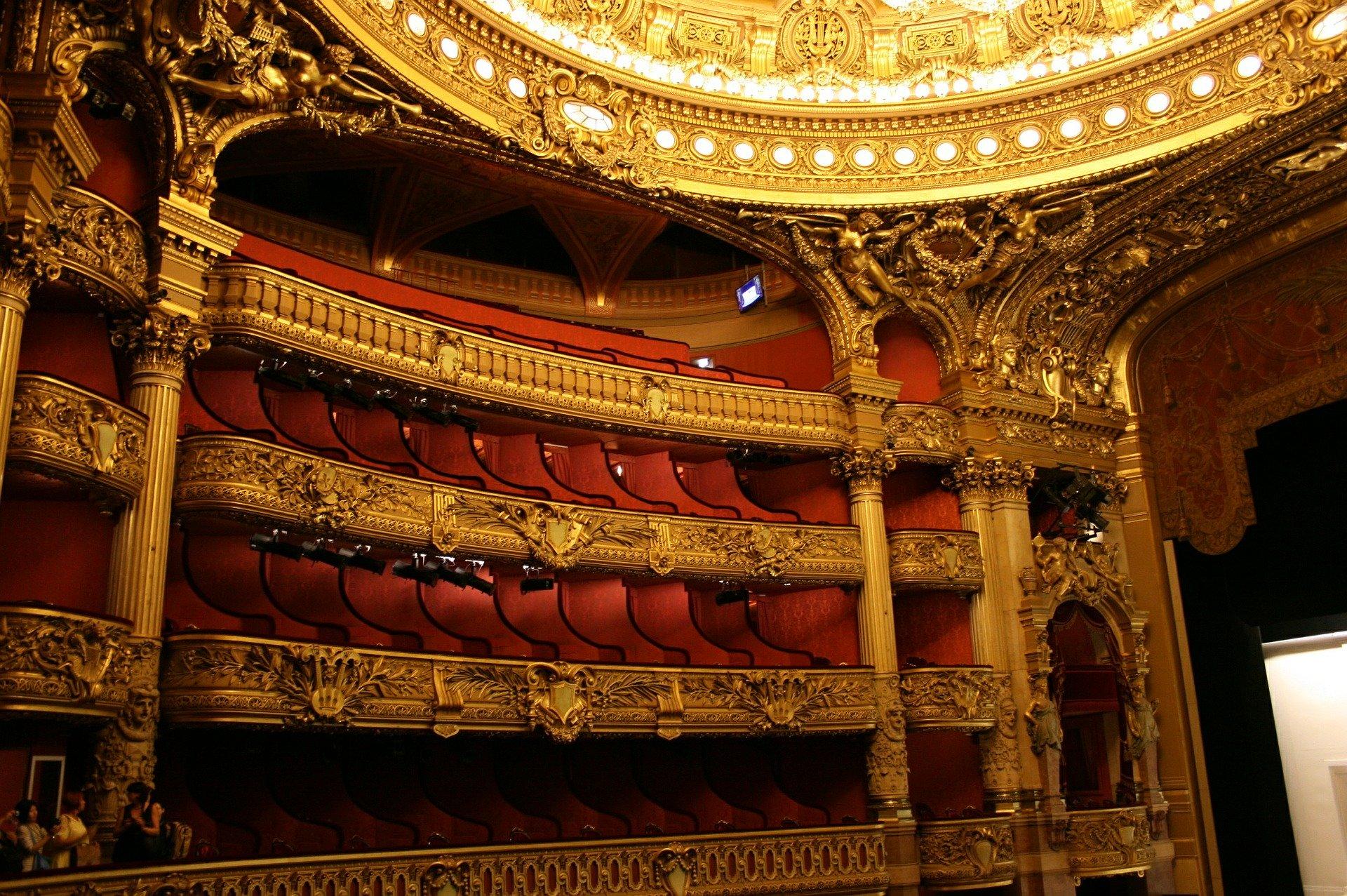 Auditorium inside the Palais Garnier Opera House