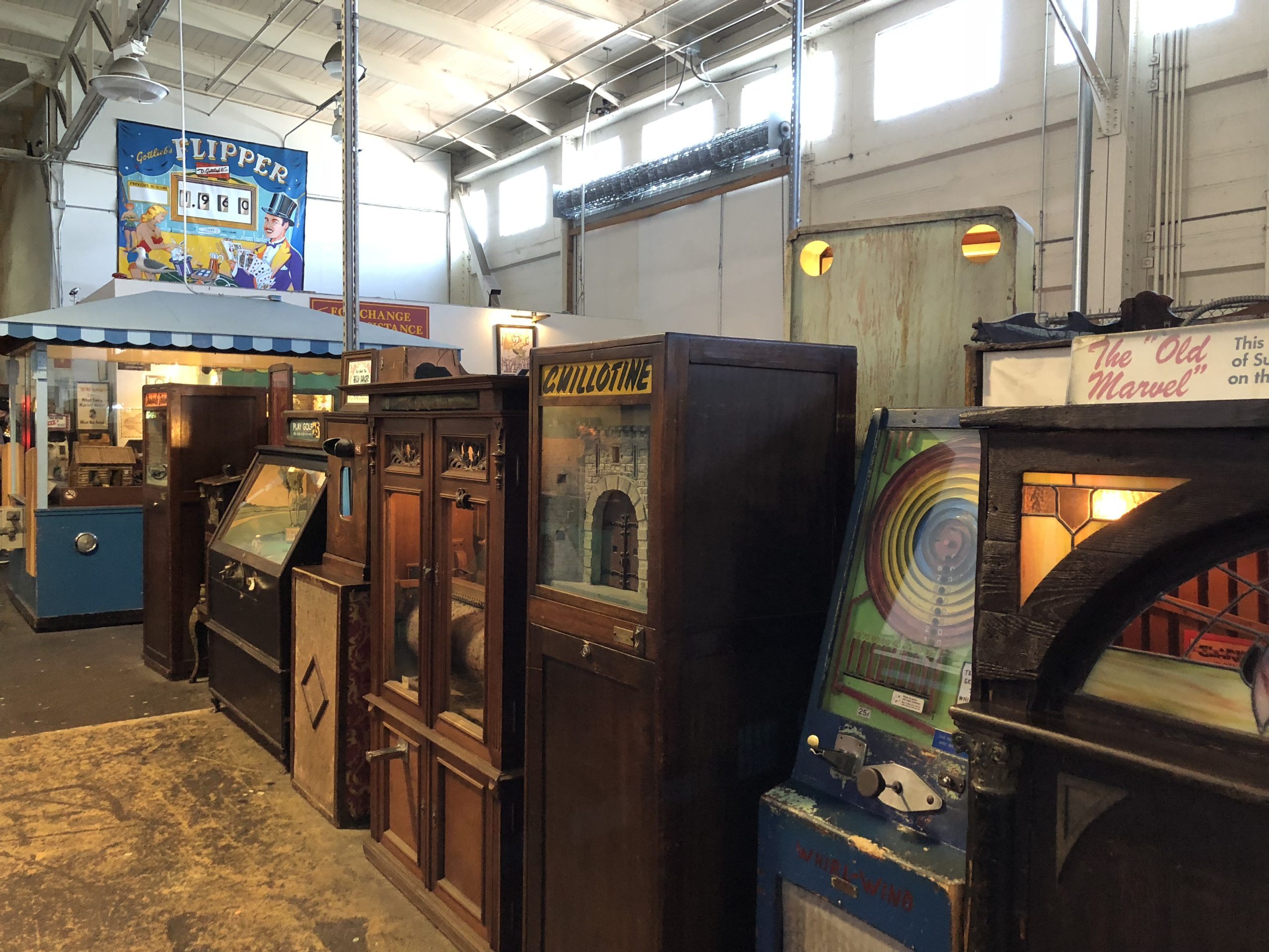 interior of the Musee Mecanique in San Francisco
