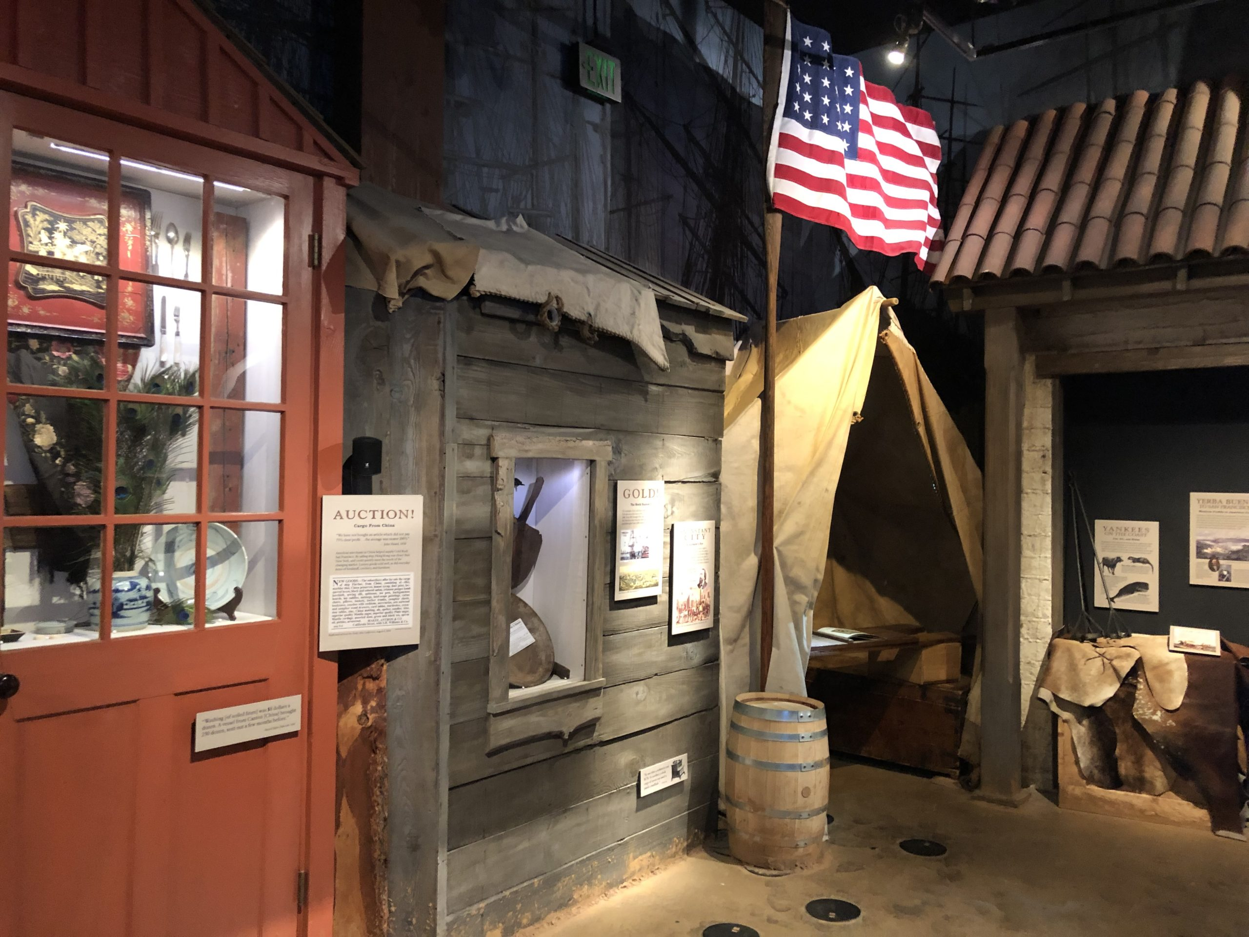 Historical display at the Maritime National Historical Park Visitor Center