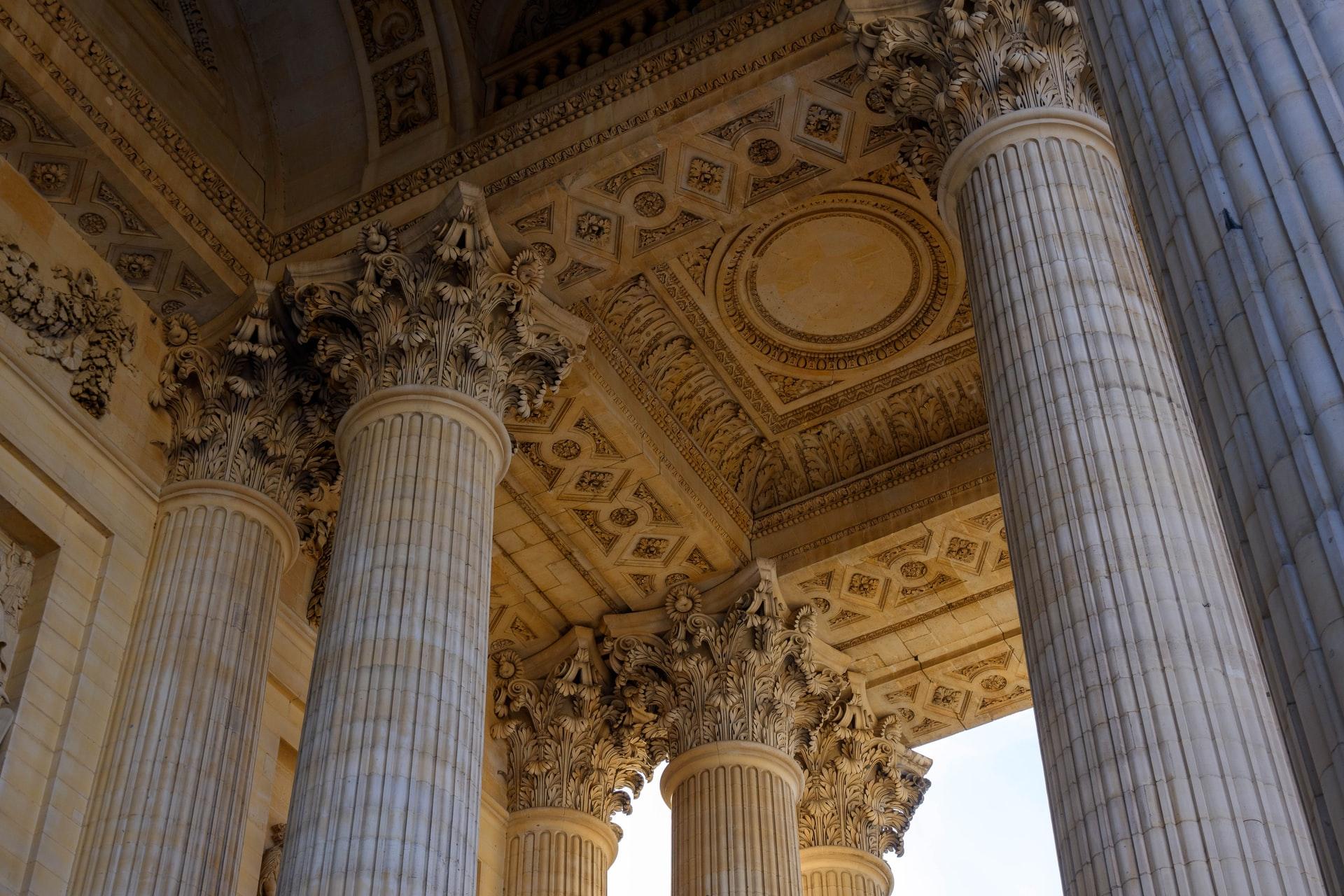 Interior columns in the Pantheon