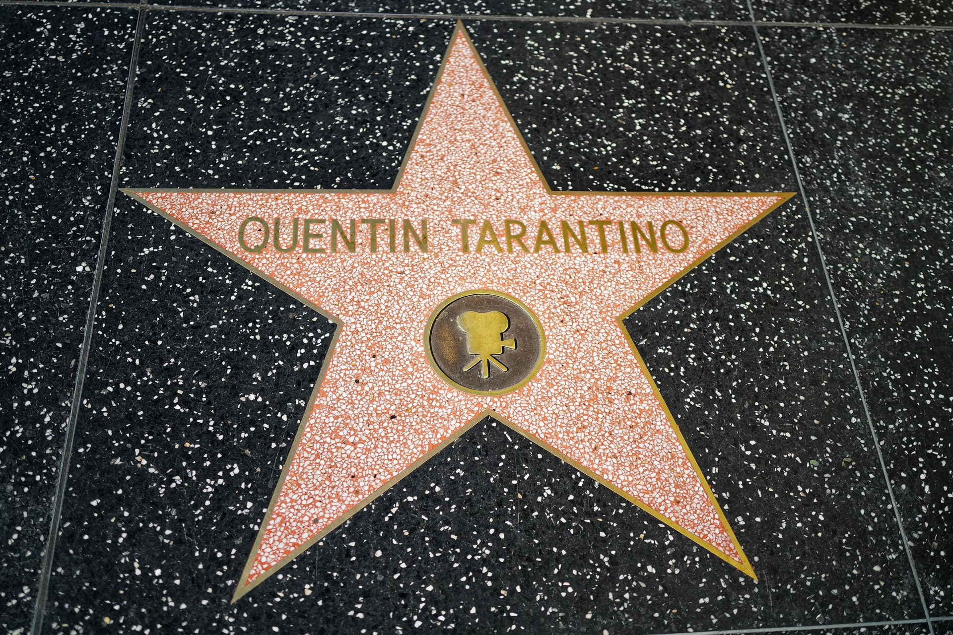 Quentin's star on the Hollywood walk of fame