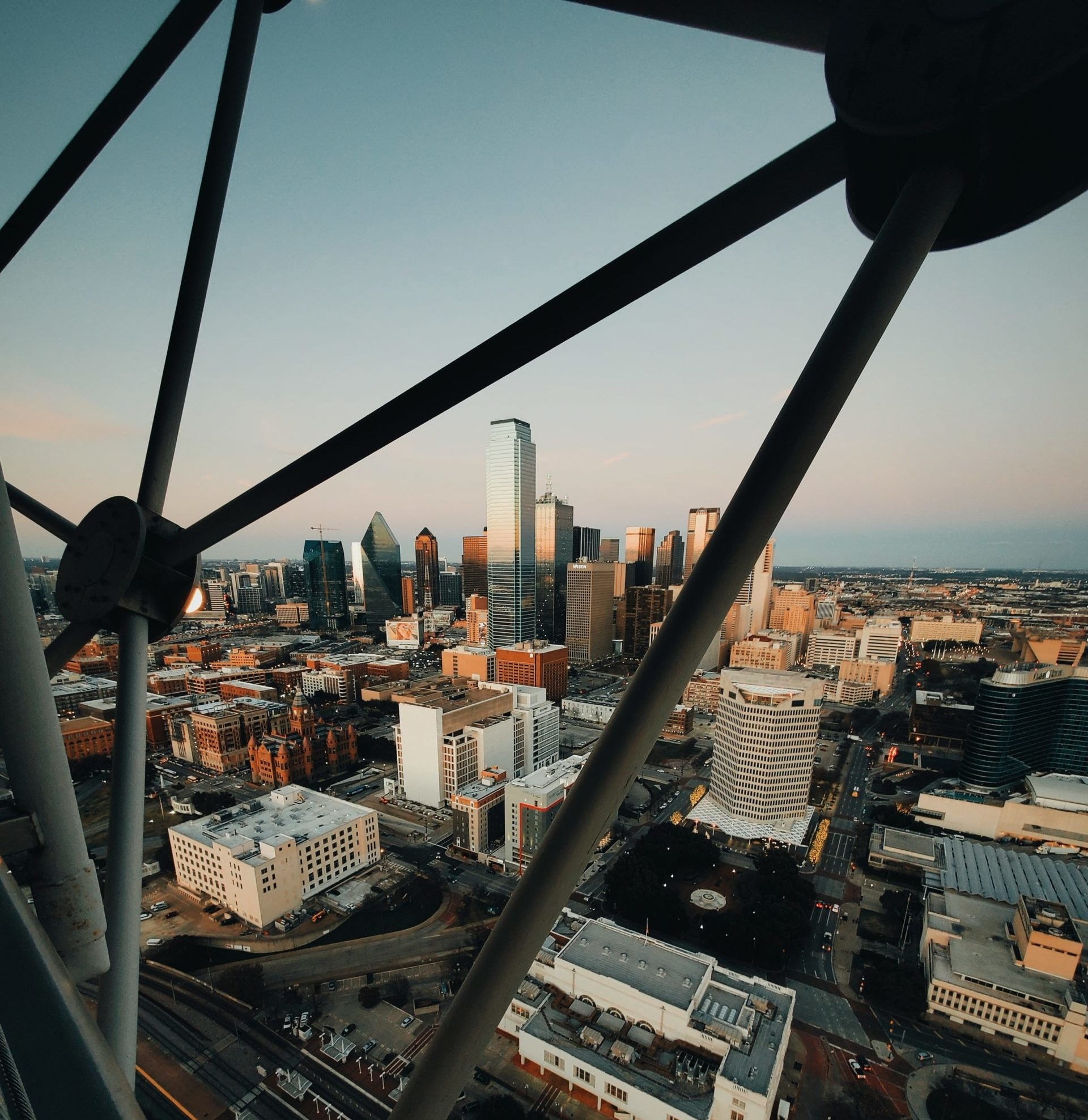 View from Reunion Tower observation deck
