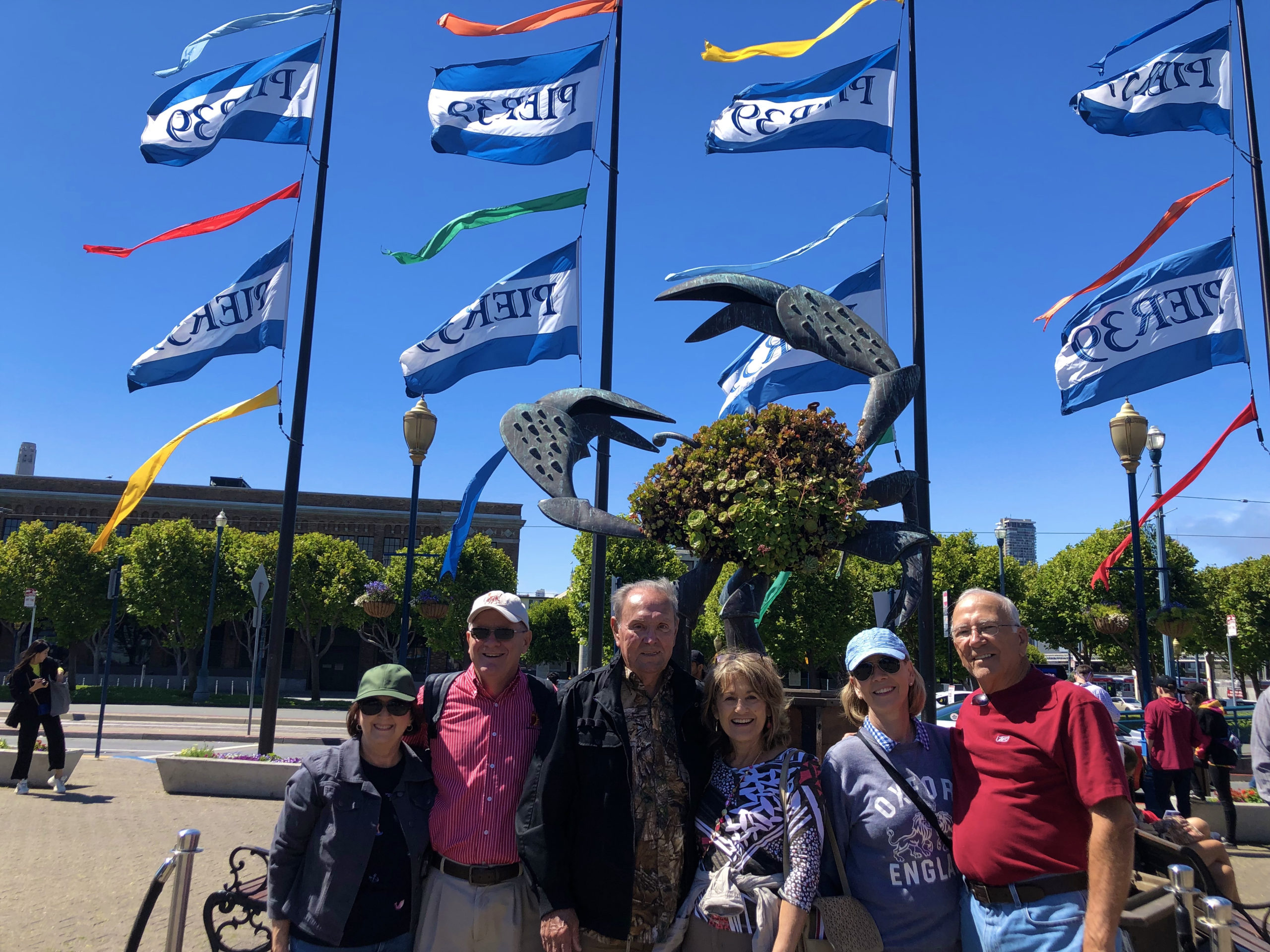 ExperienceFirst tour group at Pier 39 for the Fisherman's Wharf Walking Tour