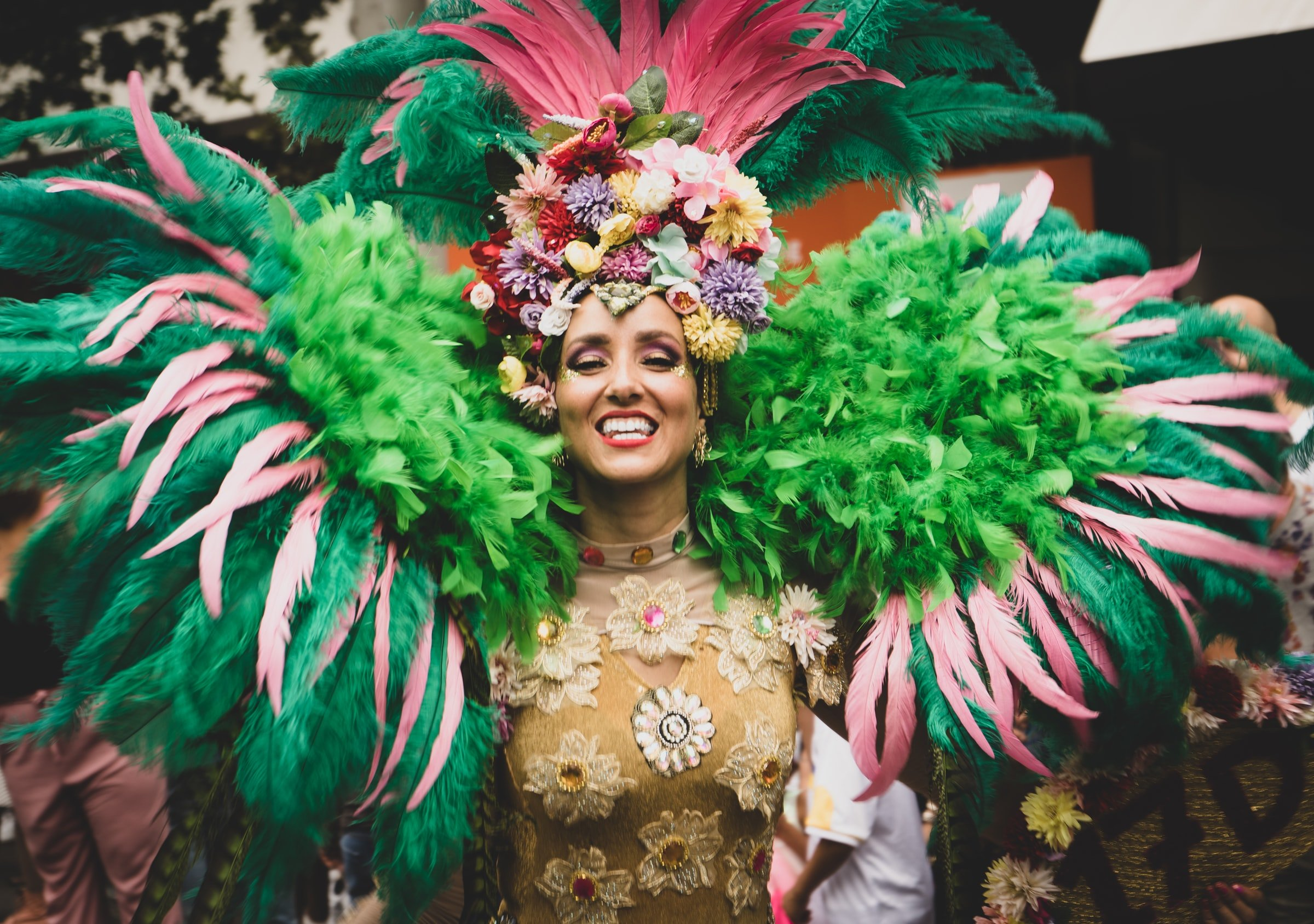 Carnival photo of woman in Carnival costume