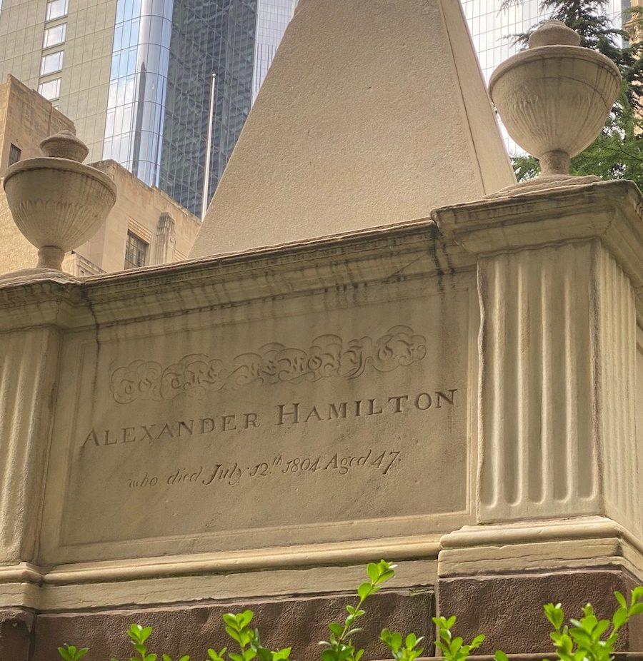 Alexander Hamilton Grave at Trinity Churchyard NYC
