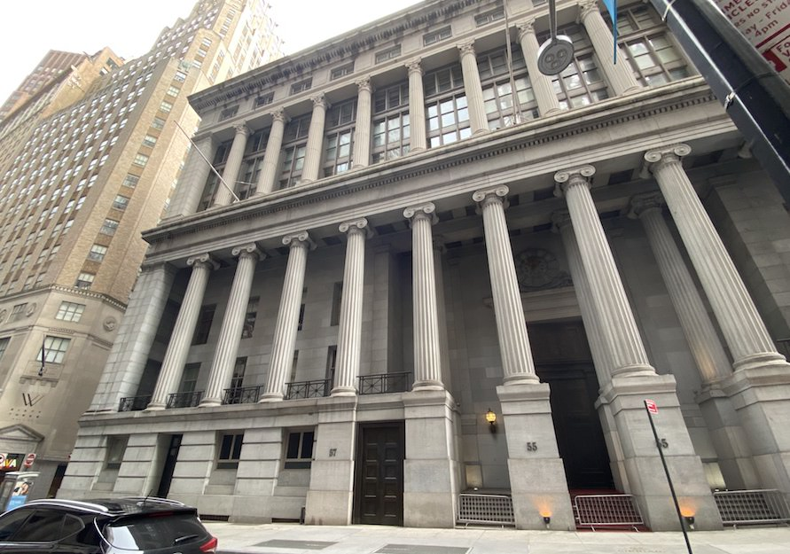57 Wall Street location of Hamilton's home and office