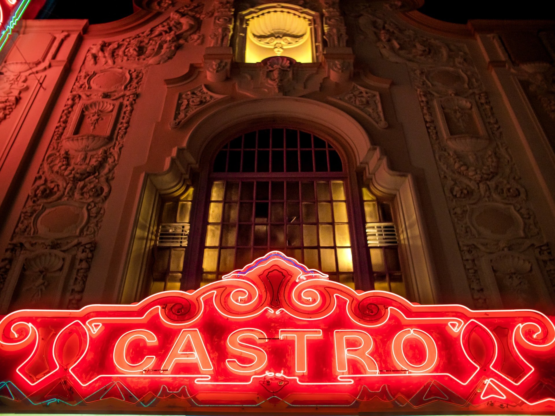 Castro Theatre at night